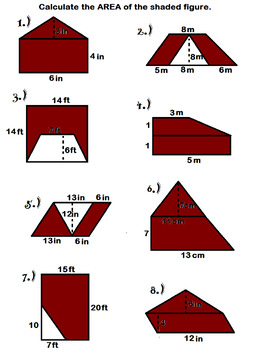 Area of complex shapes