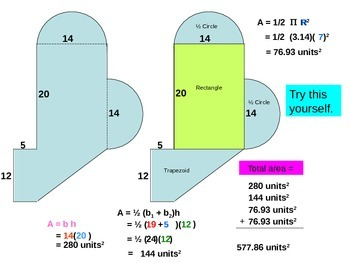 Area of irregular shapes - Powerpoint