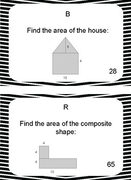 Area of quadrilaterals, Triangles & Composite Shapes Scavenger Hunt