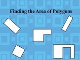 Area of rectangles, squares, and irregular polygons