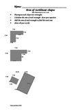 Area of rectilinear shapes- CCSS aligned 3.MD.C.7d