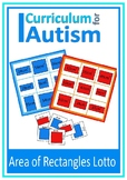Area of Rectangles Lotto Game Autism Special Education