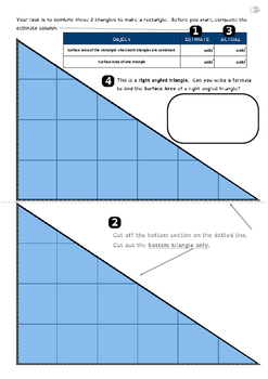 Area of the rectangle and triangle