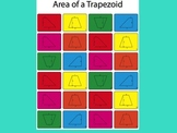 Area of trapezoids worksheet (color)