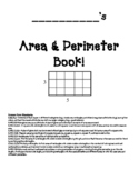 Area & perimeter book using rulers