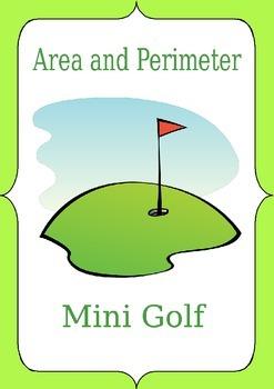 Area perimeter mini golf activities
