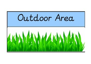 Area signs for Early Years