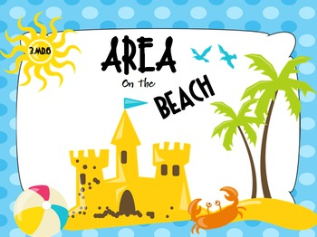 Area on the Beach PPT Game: CCSS 3.MD.6