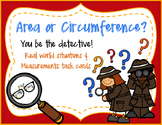 Area vs. Circumference Situation Sort and Calculation Cards!