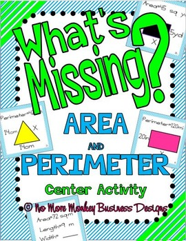 Area vs. Perimeter: Math Center Activity