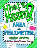 Area vs. Perimeter: Math Center Activity