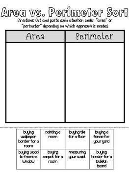 Area vs Perimeter Sort
