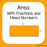 Area of Parallelograms with Fractions and Mixed Numbers