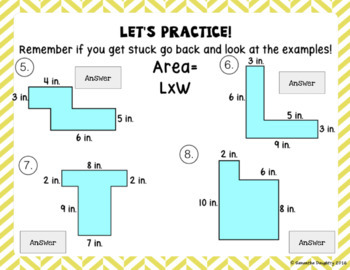 Area with Irregular Shapes- Interactive Lesson for Google Classroom
