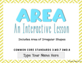 Area with Irregular Shapes- Interactive Lesson for Google