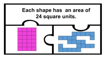 Area with Regular and Irregular Polygons Math Work Station Centers go
