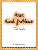 Area word problem cards/game