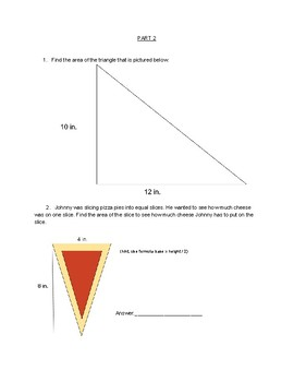 Area worksheet for 5th-6th graders