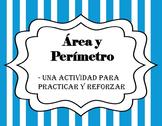 Área y Perímetro- Tarjetas para practicar y reforzar