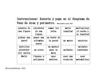 Area y perímetro-diagrama Venn (Spanish)