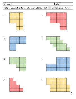 Área y perímetro usando cuadrados - a colores - TEKS 3.6C & 3.7B