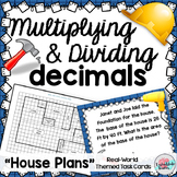 Multiply Divide DECIMALS Task Cards