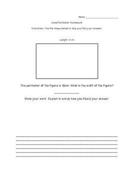 Area/Perimeter Homework
