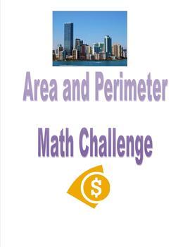Area/Perimeter (3MDC5, 3MDC6,3MDD8,4MDA3) Math Challenge