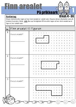 Areal og omkrets - Telle, regne ut, sammenligne, utforske