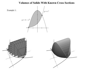 Areas and Volumes of Solids of Revolution Smart Notebook Presentation