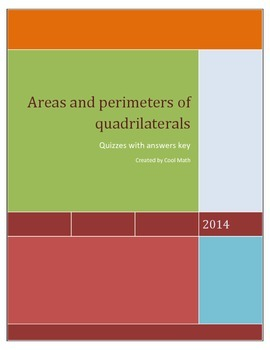 Areas and perimeters of quadrilaterals-Quizzes