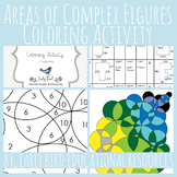 Areas of Complex Figures Coloring Activity