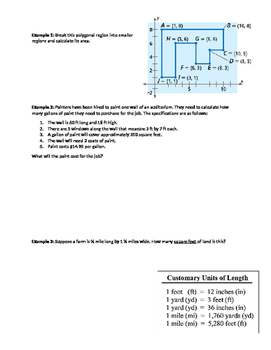 Areas of Figures Guided Notes