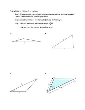 Areas of Non-Right Triangles
