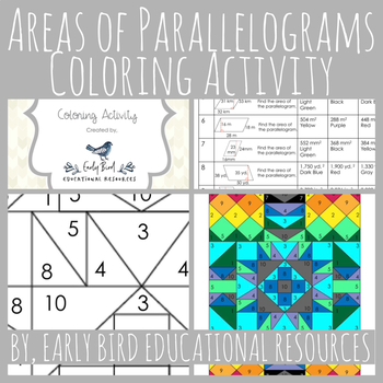Areas of Parallelograms Coloring Activity
