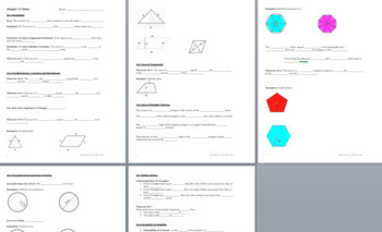 Areas of Plane Figures - PPT Notes, Formulas, and Practice BUNDLE