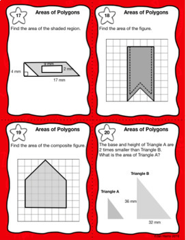Areas of Polygons Task Cards