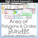 Areas of Polygons and Circles Bundle - High School Geometry