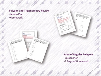 Areas of Polygons and Circles Lesson Plan Bundle