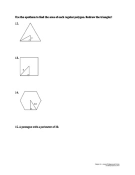 Areas of Polygons and Circles Test