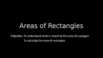 Areas of Rectangles - PowerPoint Lesson (9.1)