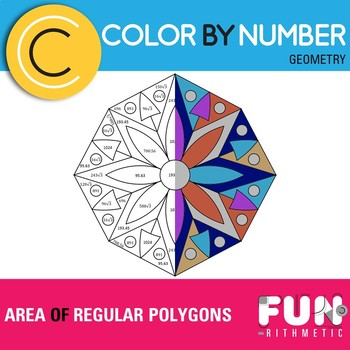 Areas of Regular Polygons Color by Number