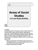 Areas of Social Studies Cut and Paste