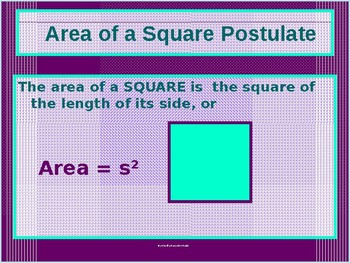 Power-Point:  Areas of Triumphant Triangles and Quality Quadrilaterals