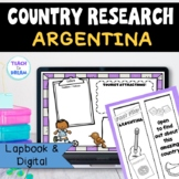 Argentina Country Research Project, PBL:Interactive Lapbook and Notebook