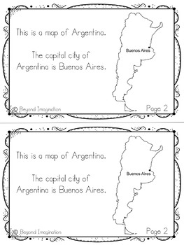Argentina Booklet Country Study Project Unit Español (Spanish) Edition