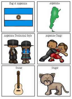 Argentina File Folder Match