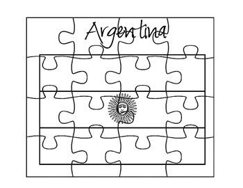 Argentina Flag Puzzle
