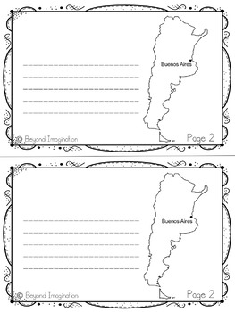 Argentina Booklet Country Study Project Unit