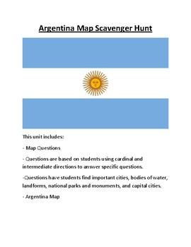 Argentina Map Scavenger Hunt